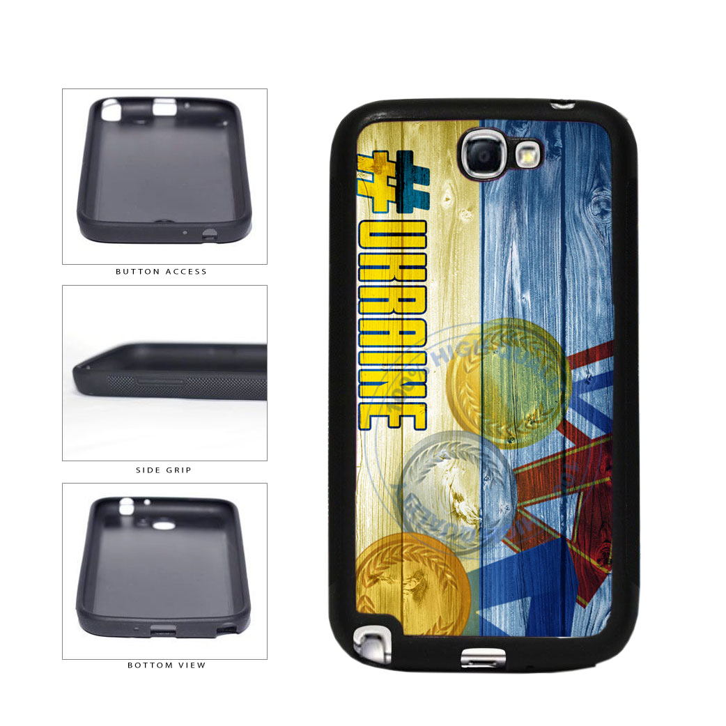 Sport Games Hashtag Team Ukraine #Ukraine TPU Rubber SILICONE Phone Case Back Cover For Samsung Galaxy Note II 2 N7100 includes BleuReign(TM) Cloth and Warranty Label
