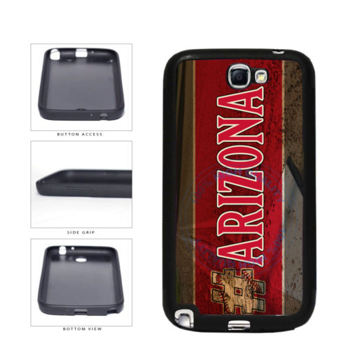Hashtag Arizona #Arizona Baseball Team  TPU Rubber SILICONE Phone Case Back Cover For Samsung Galaxy Note II 2 N7100 includes BleuReign(TM) Cloth and Warranty Label