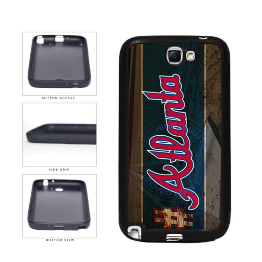 Hashtag Atlanta #Atlanta Baseball Team  TPU Rubber SILICONE Phone Case Back Cover For Samsung Galaxy Note II 2 N7100 includes BleuReign(TM) Cloth and Warranty Label