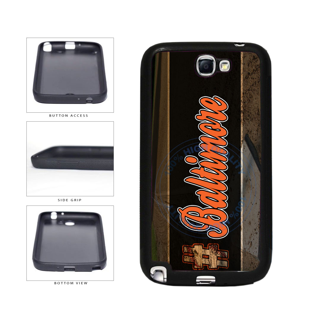 Hashtag Baltimore #Baltimore Baseball Team  TPU Rubber SILICONE Phone Case Back Cover For Samsung Galaxy Note II 2 N7100 includes BleuReign(TM) Cloth and Warranty Label