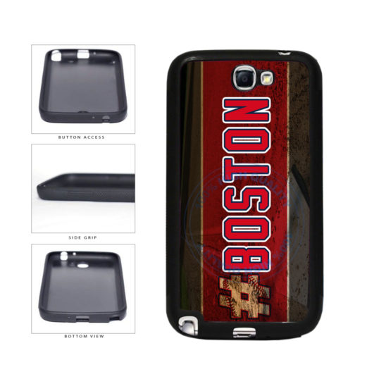Hashtag Boston #Boston Baseball Team  TPU Rubber SILICONE Phone Case Back Cover For Samsung Galaxy Note II 2 N7100 includes BleuReign(TM) Cloth and Warranty Label