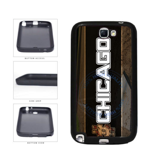 Hashtag Chicago #Chicago White Baseball Team  TPU Rubber SILICONE Phone Case Back Cover For Samsung Galaxy Note II 2 N7100 includes BleuReign(TM) Cloth and Warranty Label