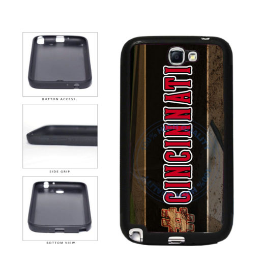 Hashtag Cincinnati #Cincinnati Baseball Team  TPU Rubber SILICONE Phone Case Back Cover For Samsung Galaxy Note II 2 N7100 includes BleuReign(TM) Cloth and Warranty Label