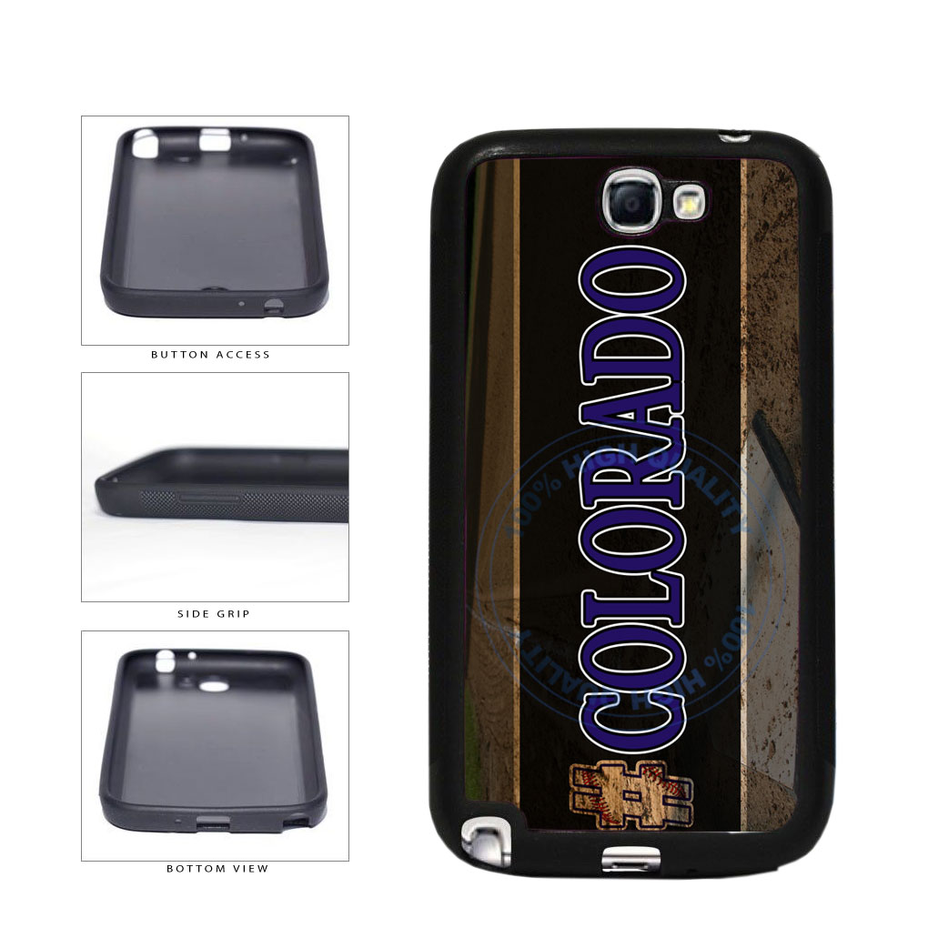 Hashtag Colorado #Colorado Baseball Team  TPU Rubber SILICONE Phone Case Back Cover For Samsung Galaxy Note II 2 N7100 includes BleuReign(TM) Cloth and Warranty Label