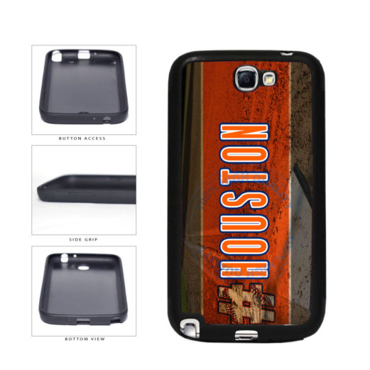 Hashtag Houston #Houston Baseball Team  TPU Rubber SILICONE Phone Case Back Cover For Samsung Galaxy Note II 2 N7100 includes BleuReign(TM) Cloth and Warranty Label