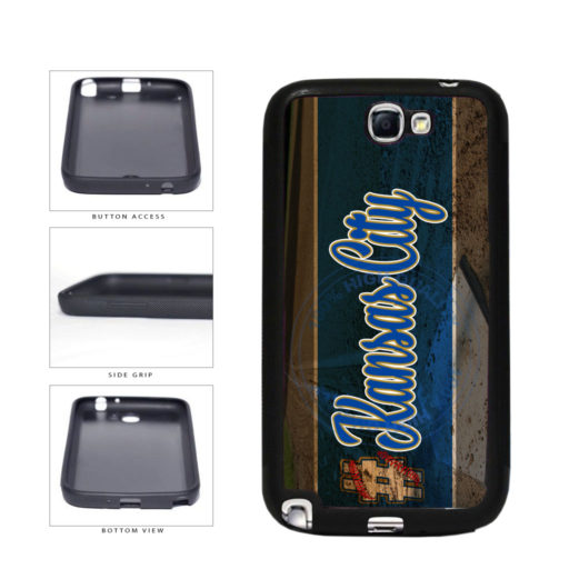 Hashtag Kansas City #KansasCity Baseball Team  TPU Rubber SILICONE Phone Case Back Cover For Samsung Galaxy Note II 2 N7100 includes BleuReign(TM) Cloth and Warranty Label