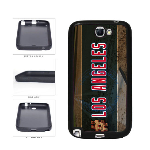 Hashtag Los Angeles #LosAngeles Anaheim Baseball Team TPU Rubber SILICONE Phone Case Back Cover For Samsung Galaxy Note II 2 N7100 includes BleuReign(TM) Cloth and Warranty Label