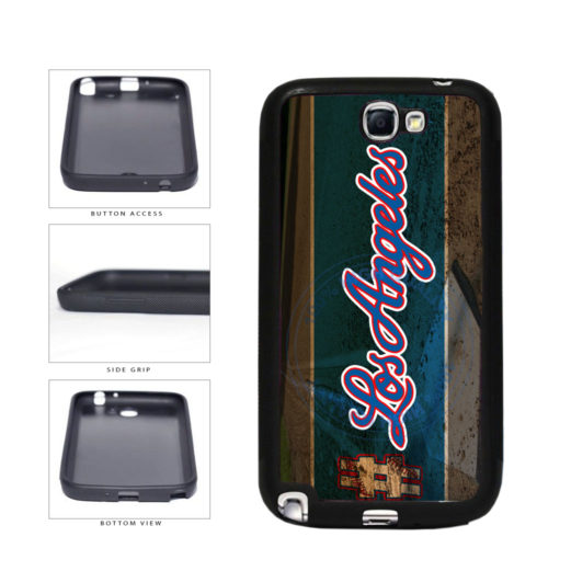 Hashtag Los Angeles #LosAngeles Blue Baseball Team  TPU Rubber SILICONE Phone Case Back Cover For Samsung Galaxy Note II 2 N7100 includes BleuReign(TM) Cloth and Warranty Label