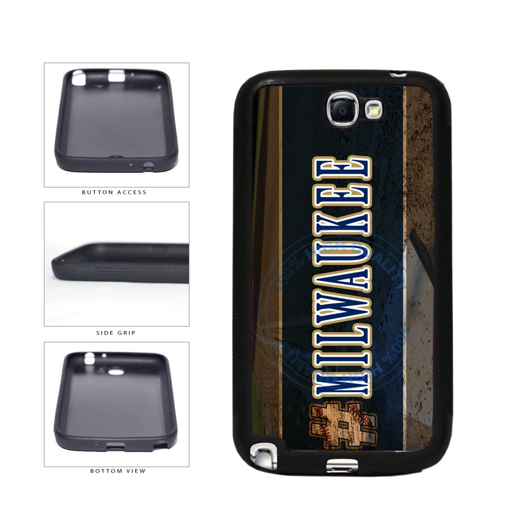 Hashtag Milwaukee #Milwaukee Baseball Team  TPU Rubber SILICONE Phone Case Back Cover For Samsung Galaxy Note II 2 N7100 includes BleuReign(TM) Cloth and Warranty Label