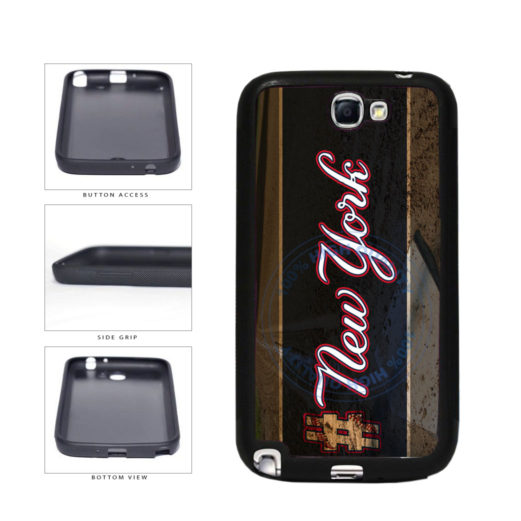 Hashtag New York #NewYork Blue Baseball Team  TPU Rubber SILICONE Phone Case Back Cover For Samsung Galaxy Note II 2 N7100 includes BleuReign(TM) Cloth and Warranty Label