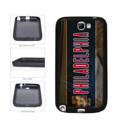 Hashtag Philadelphia #Philadelphia Baseball Team  TPU Rubber SILICONE Phone Case Back Cover For Samsung Galaxy Note II 2 N7100 includes BleuReign(TM) Cloth and Warranty Label