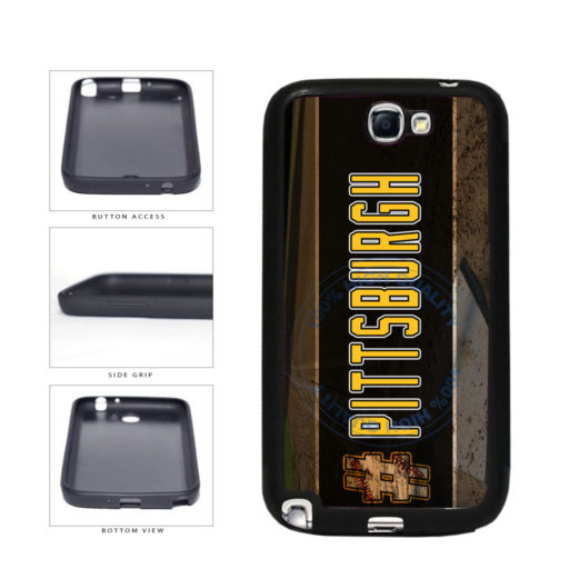 Hashtag Pittsburgh #Pittsburgh Baseball Team  TPU Rubber SILICONE Phone Case Back Cover For Samsung Galaxy Note II 2 N7100 includes BleuReign(TM) Cloth and Warranty Label