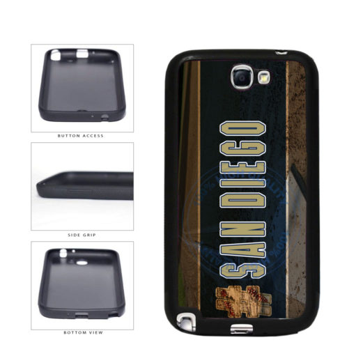 Hashtag San Diego #SanDiego Baseball Team  TPU Rubber SILICONE Phone Case Back Cover For Samsung Galaxy Note II 2 N7100 includes BleuReign(TM) Cloth and Warranty Label