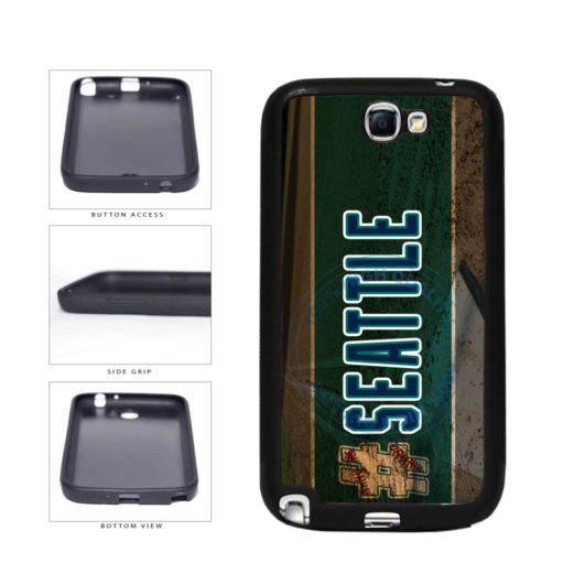 Hashtag Seattle #Seattle Baseball Team  TPU Rubber SILICONE Phone Case Back Cover For Samsung Galaxy Note II 2 N7100 includes BleuReign(TM) Cloth and Warranty Label
