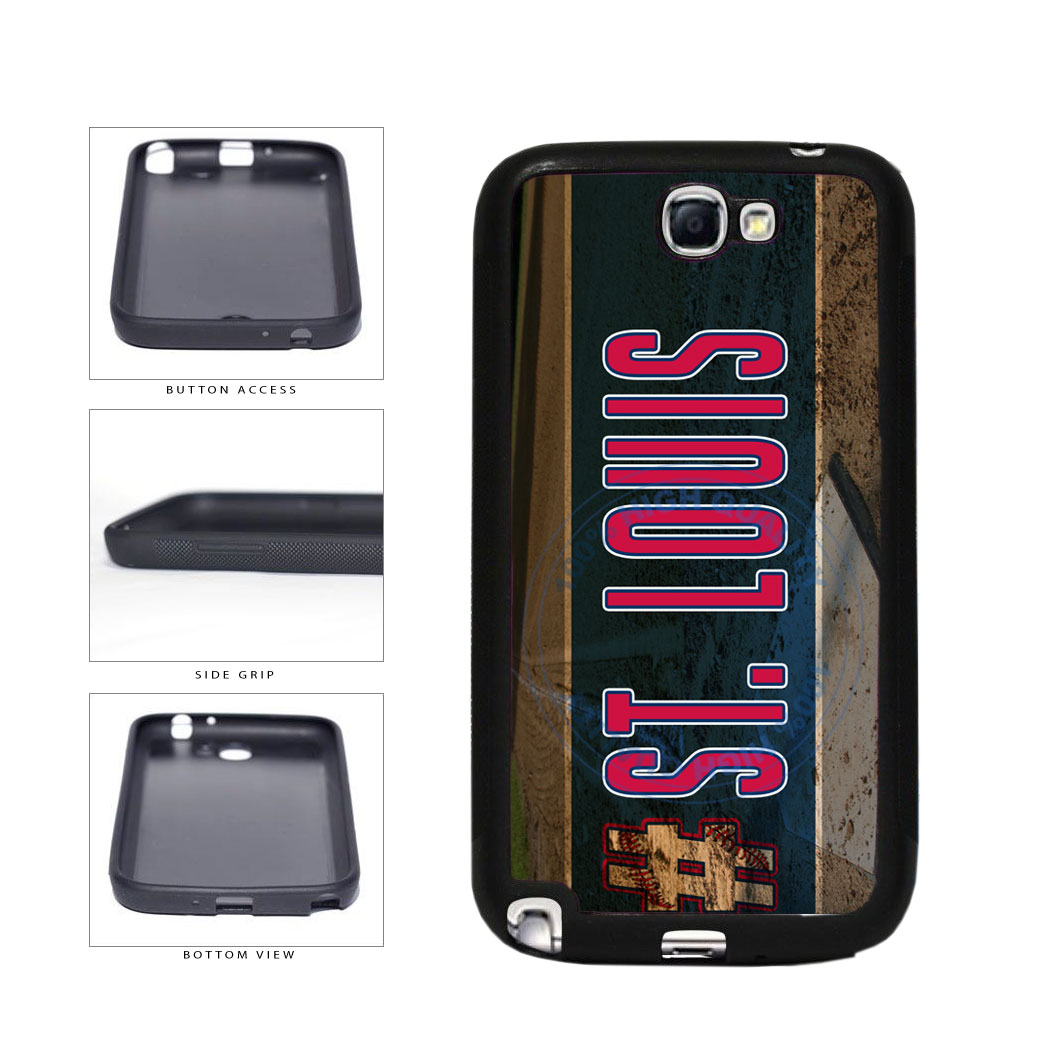 Hashtag St Louis #StLouis Baseball Team TPU Rubber SILICONE Phone Case Back Cover For Samsung Galaxy Note II 2 N7100 includes BleuReign(TM) Cloth and Warranty Label