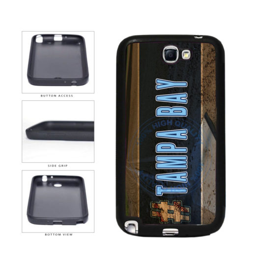 Hashtag Tampa Bay #TampaBay Baseball Team  TPU Rubber SILICONE Phone Case Back Cover For Samsung Galaxy Note II 2 N7100 includes BleuReign(TM) Cloth and Warranty Label