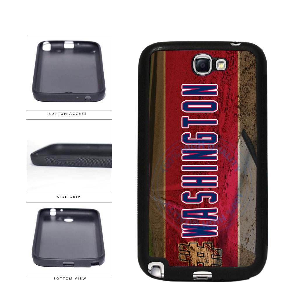 Hashtag Washington #Washington Baseball Team  TPU Rubber SILICONE Phone Case Back Cover For Samsung Galaxy Note II 2 N7100 includes BleuReign(TM) Cloth and Warranty Label