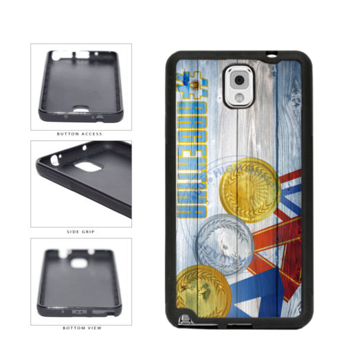 Sport Games Hashtag Team Argentina #Argentina TPU Rubber SILICONE Phone Case Back Cover For Samsung Galaxy Note III 3 N9002 includes BleuReign(TM) Cloth and Warranty Label