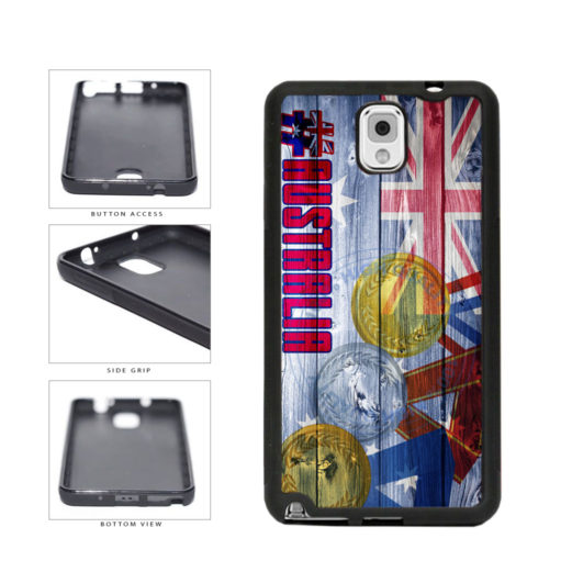 Sport Games Hashtag Team Australia #Australia TPU Rubber SILICONE Phone Case Back Cover For Samsung Galaxy Note III 3 N9002 includes BleuReign(TM) Cloth and Warranty Label