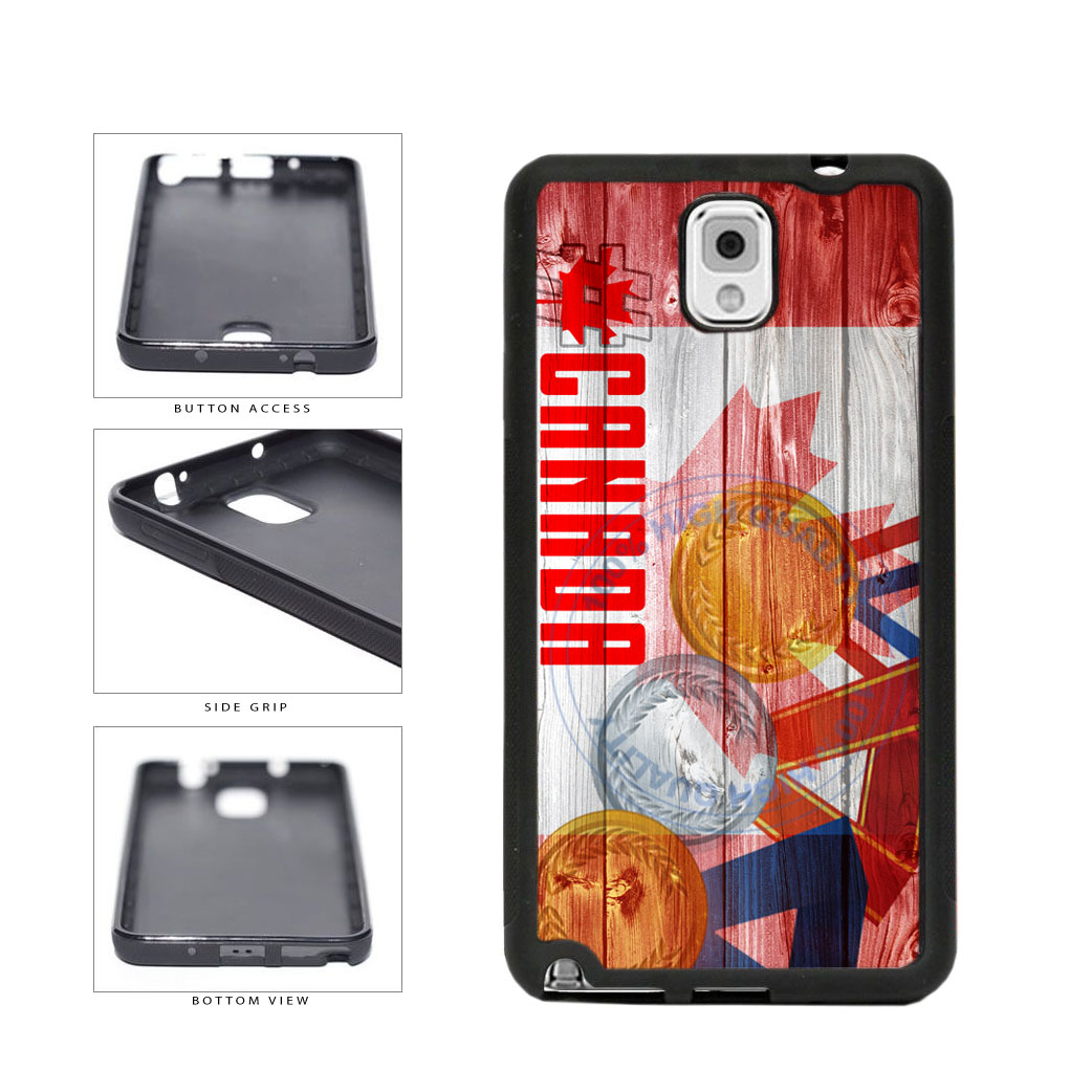 Sport Games Hashtag Team Canada #Canada TPU Rubber SILICONE Phone Case Back Cover For Samsung Galaxy Note III 3 N9002 includes BleuReign(TM) Cloth and Warranty Label