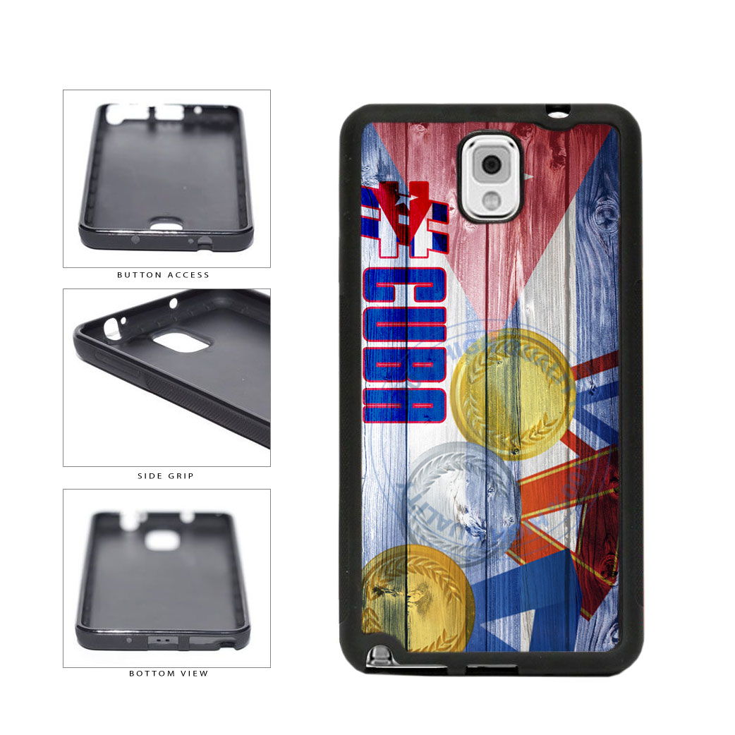 Sport Games Hashtag Team Cuba #Cuba TPU Rubber SILICONE Phone Case Back Cover For Samsung Galaxy Note III 3 N9002 includes BleuReign(TM) Cloth and Warranty Label