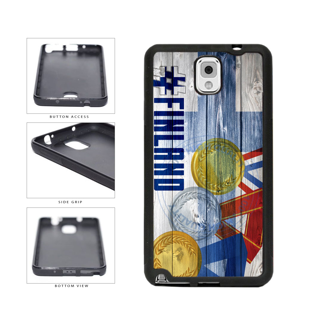 Sport Games Hashtag Team Finland #Finland TPU Rubber SILICONE Phone Case Back Cover For Samsung Galaxy Note III 3 N9002 includes BleuReign(TM) Cloth and Warranty Label