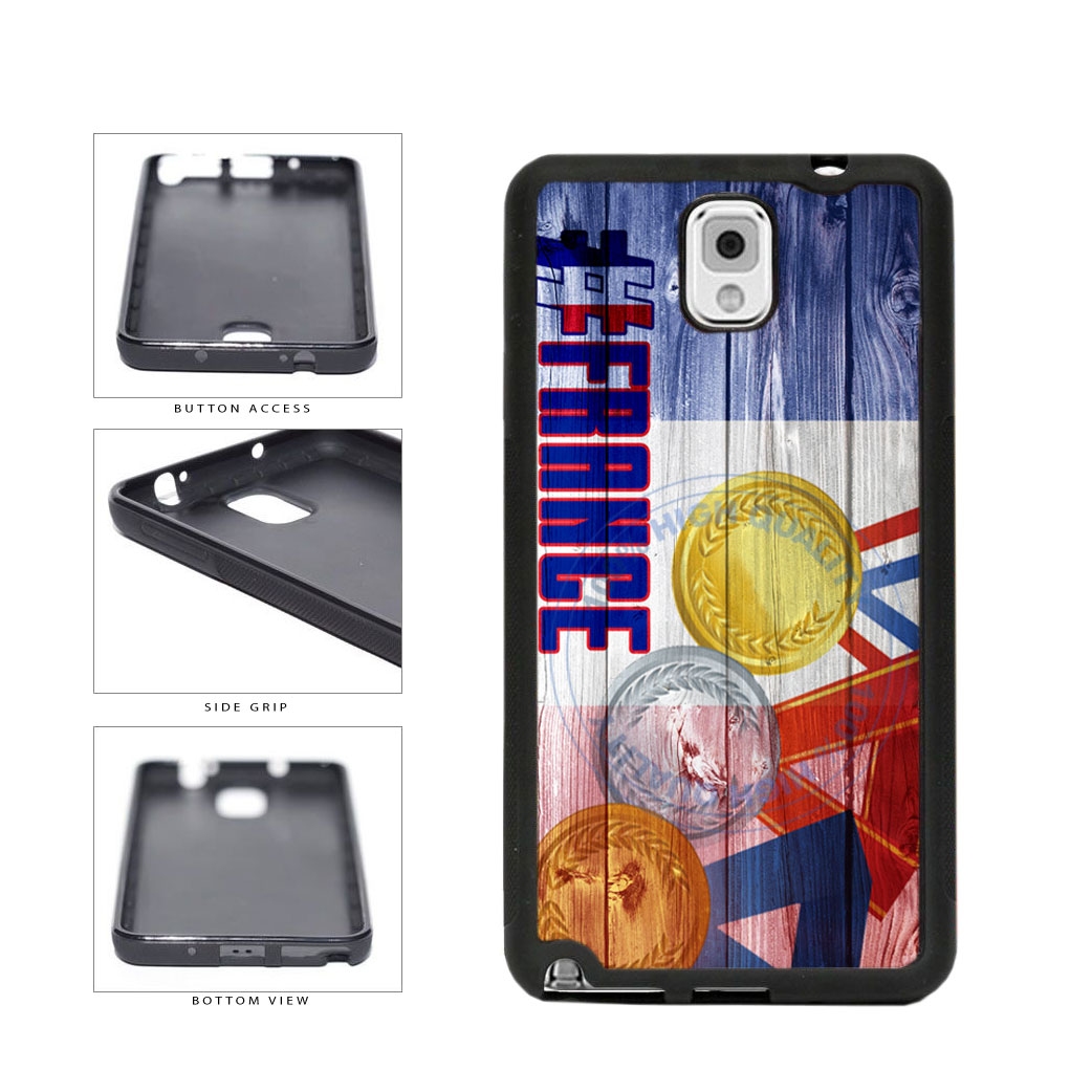 Sport Games Hashtag Team France #France TPU Rubber SILICONE Phone Case Back Cover For Samsung Galaxy Note III 3 N9002 includes BleuReign(TM) Cloth and Warranty Label