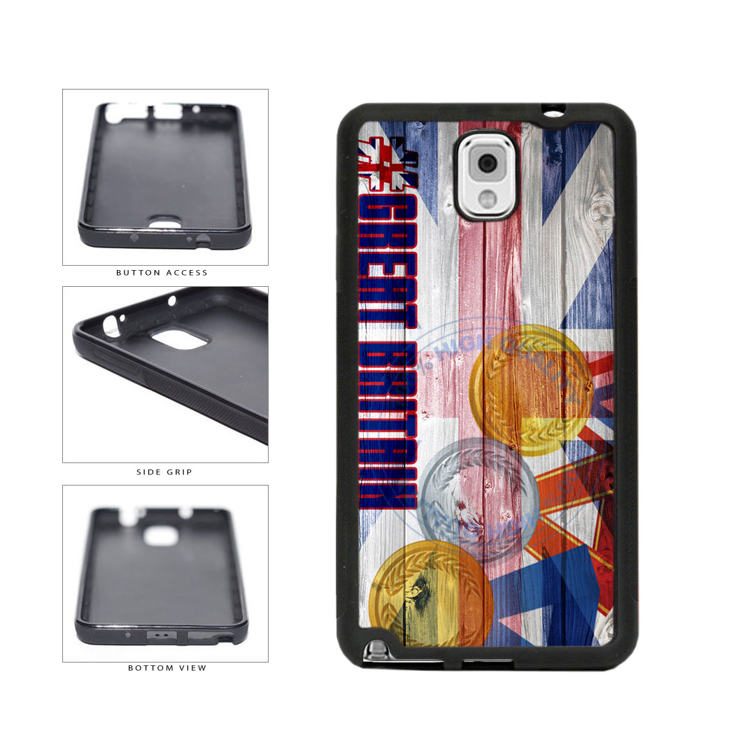 Sport Games Hashtag Team Great Britain #GreatBritain TPU Rubber SILICONE Phone Case Back Cover For Samsung Galaxy Note III 3 N9002 includes BleuReign(TM) Cloth and Warranty Label