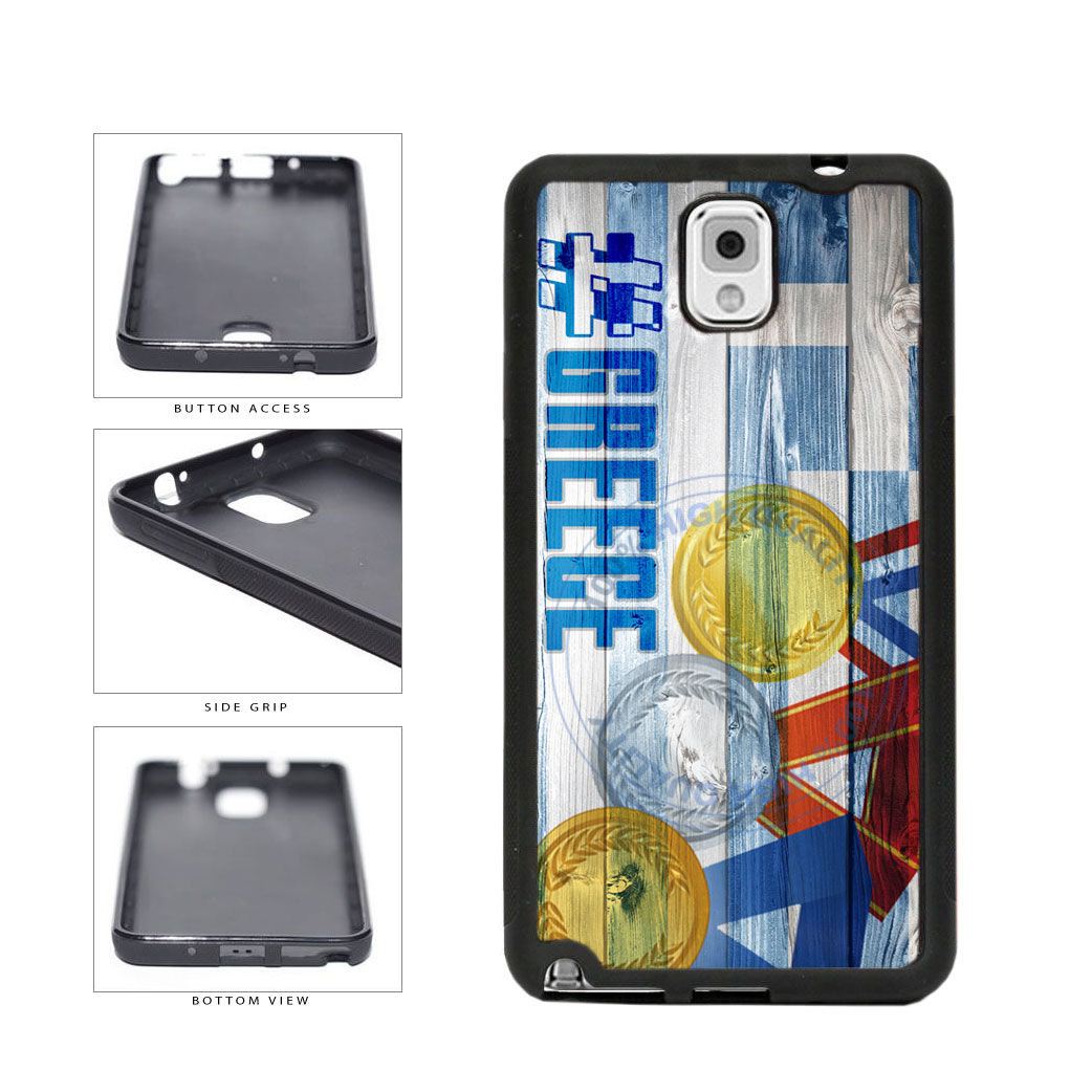Sport Games Hashtag Team Greece #Greece TPU Rubber SILICONE Phone Case Back Cover For Samsung Galaxy Note III 3 N9002 includes BleuReign(TM) Cloth and Warranty Label