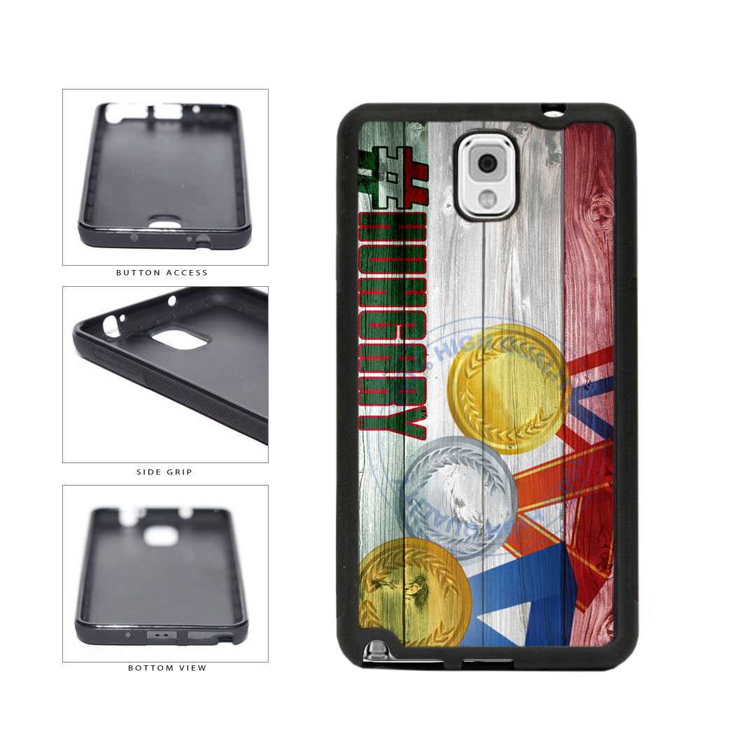 Sport Games Hashtag Team Hungary #Hungary TPU Rubber SILICONE Phone Case Back Cover For Samsung Galaxy Note III 3 N9002 includes BleuReign(TM) Cloth and Warranty Label