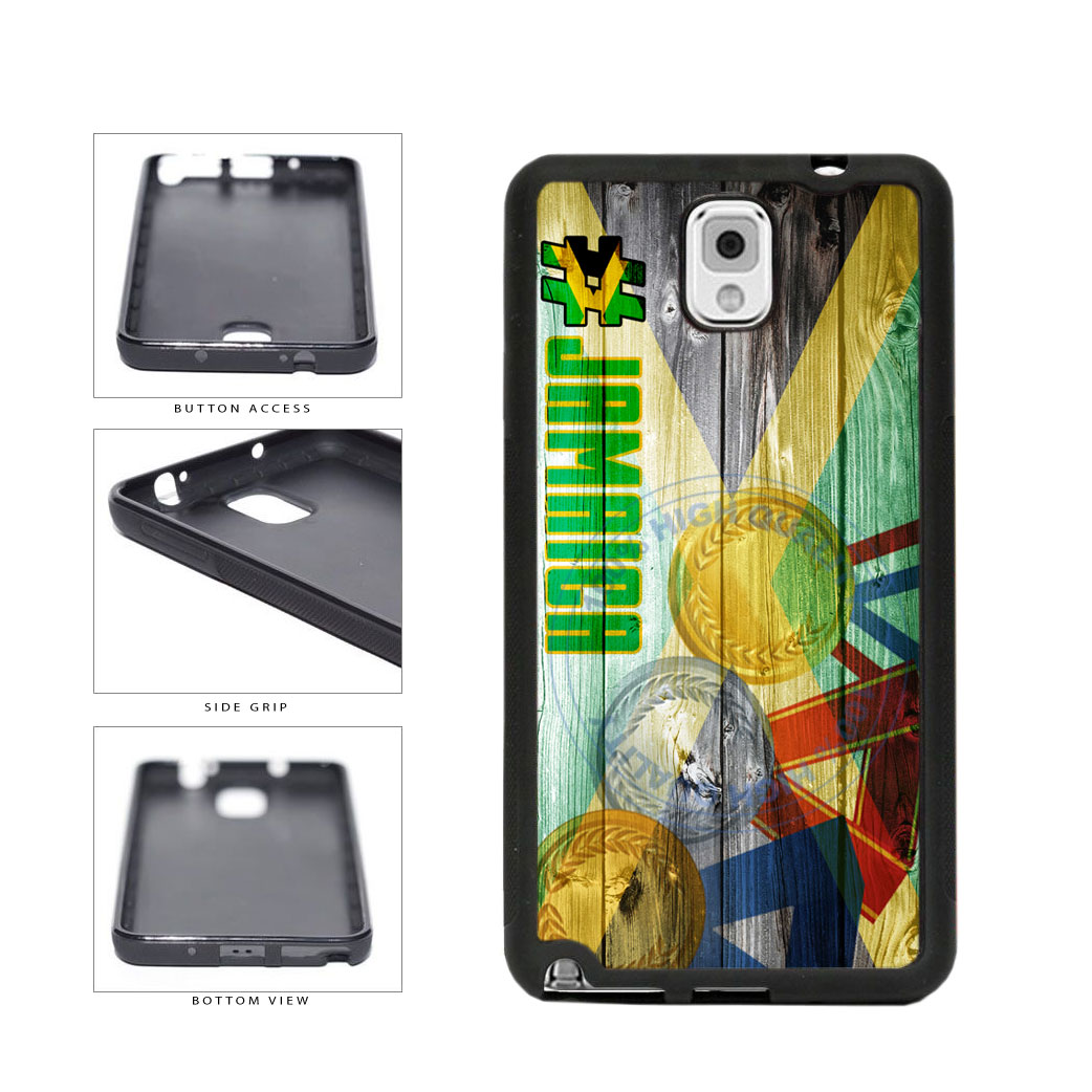 Sport Games Hashtag Team Jamaica #Jamacia TPU Rubber SILICONE Phone Case Back Cover For Samsung Galaxy Note III 3 N9002 includes BleuReign(TM) Cloth and Warranty Label