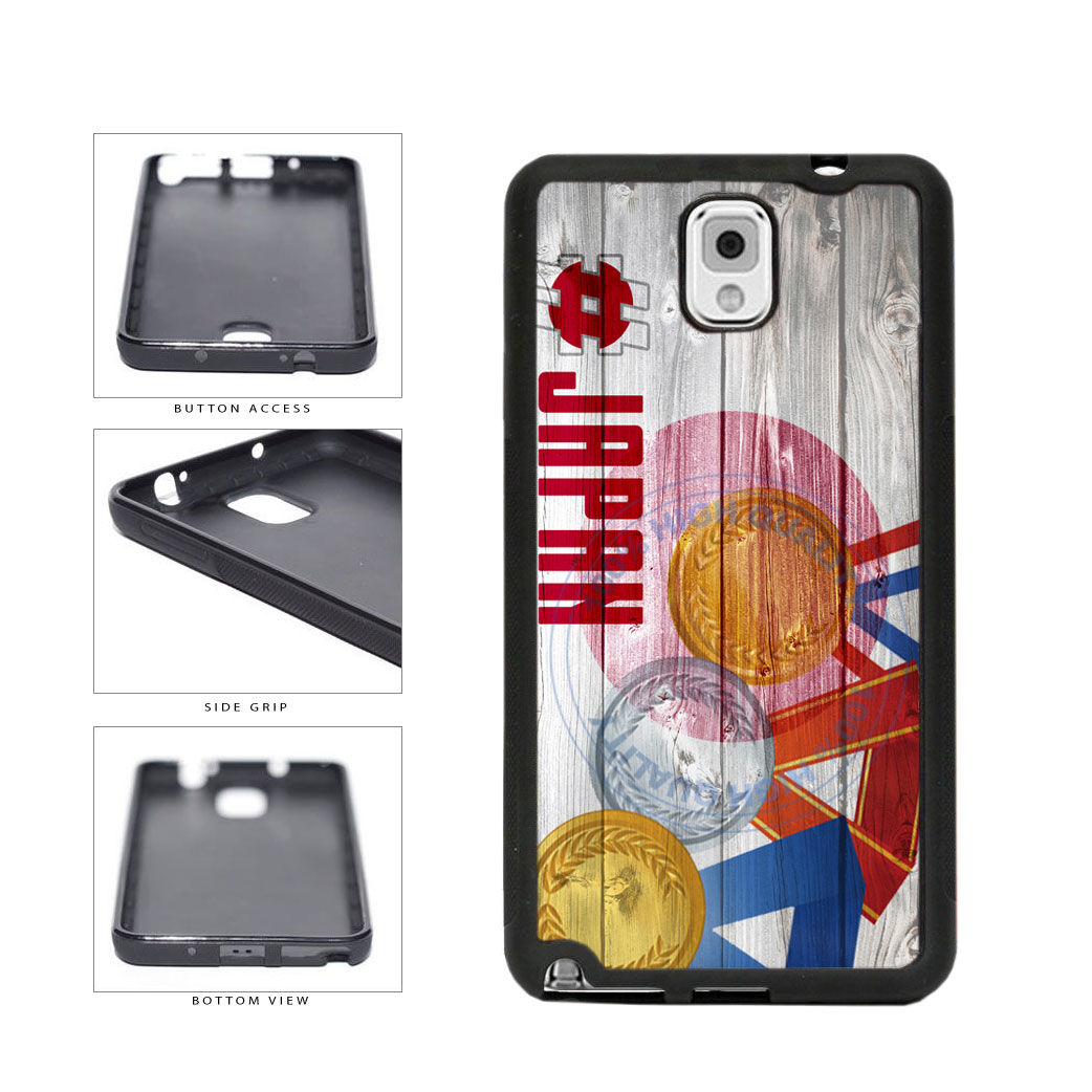 Sport Games Hashtag Team Japan #Japan TPU Rubber SILICONE Phone Case Back Cover For Samsung Galaxy Note III 3 N9002 includes BleuReign(TM) Cloth and Warranty Label