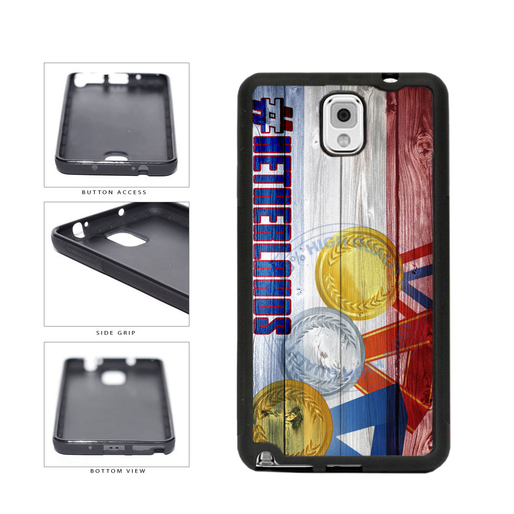 Sport Games Hashtag Team Netherlands #Netherlands TPU Rubber SILICONE Phone Case Back Cover For Samsung Galaxy Note III 3 N9002 includes BleuReign(TM) Cloth and Warranty Label