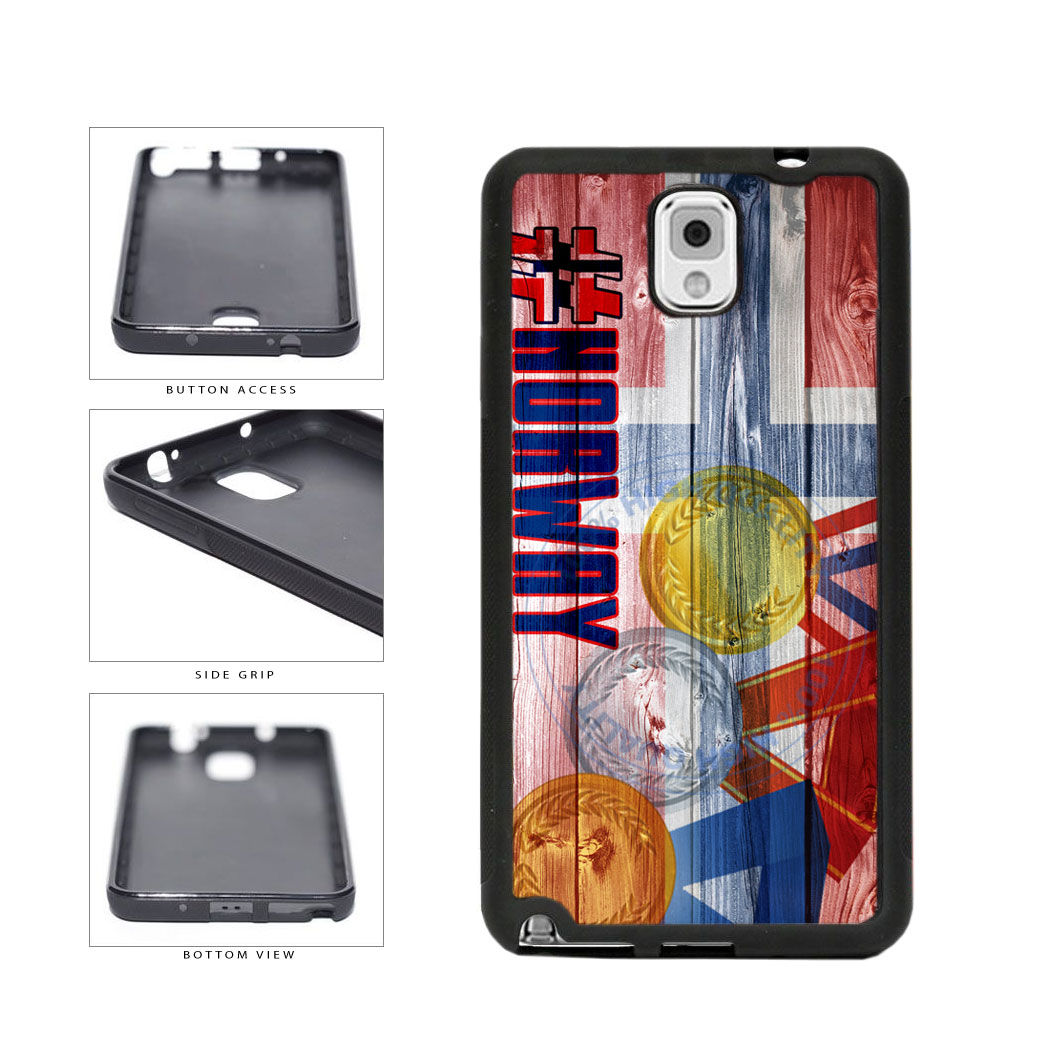 Sport Games Hashtag Team Norway #Norway TPU Rubber SILICONE Phone Case Back Cover For Samsung Galaxy Note III 3 N9002 includes BleuReign(TM) Cloth and Warranty Label