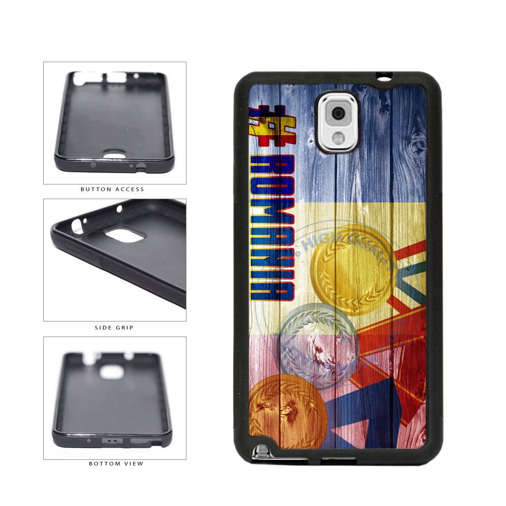 Sport Games Hashtag Team Romania #Romania TPU Rubber SILICONE Phone Case Back Cover For Samsung Galaxy Note III 3 N9002 includes BleuReign(TM) Cloth and Warranty Label