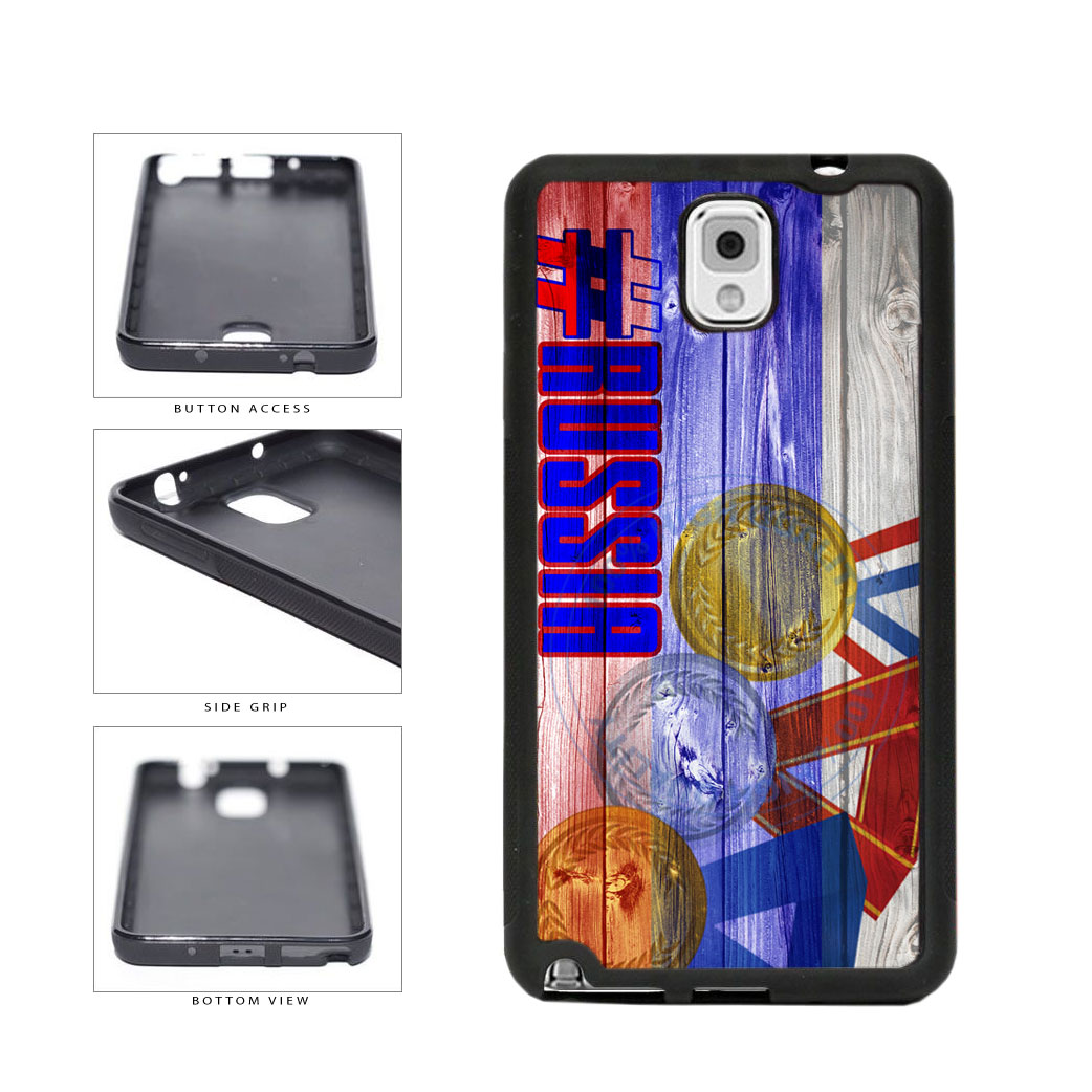 Sport Games Hashtag Team Russia #Russia TPU Rubber SILICONE Phone Case Back Cover For Samsung Galaxy Note III 3 N9002 includes BleuReign(TM) Cloth and Warranty Label