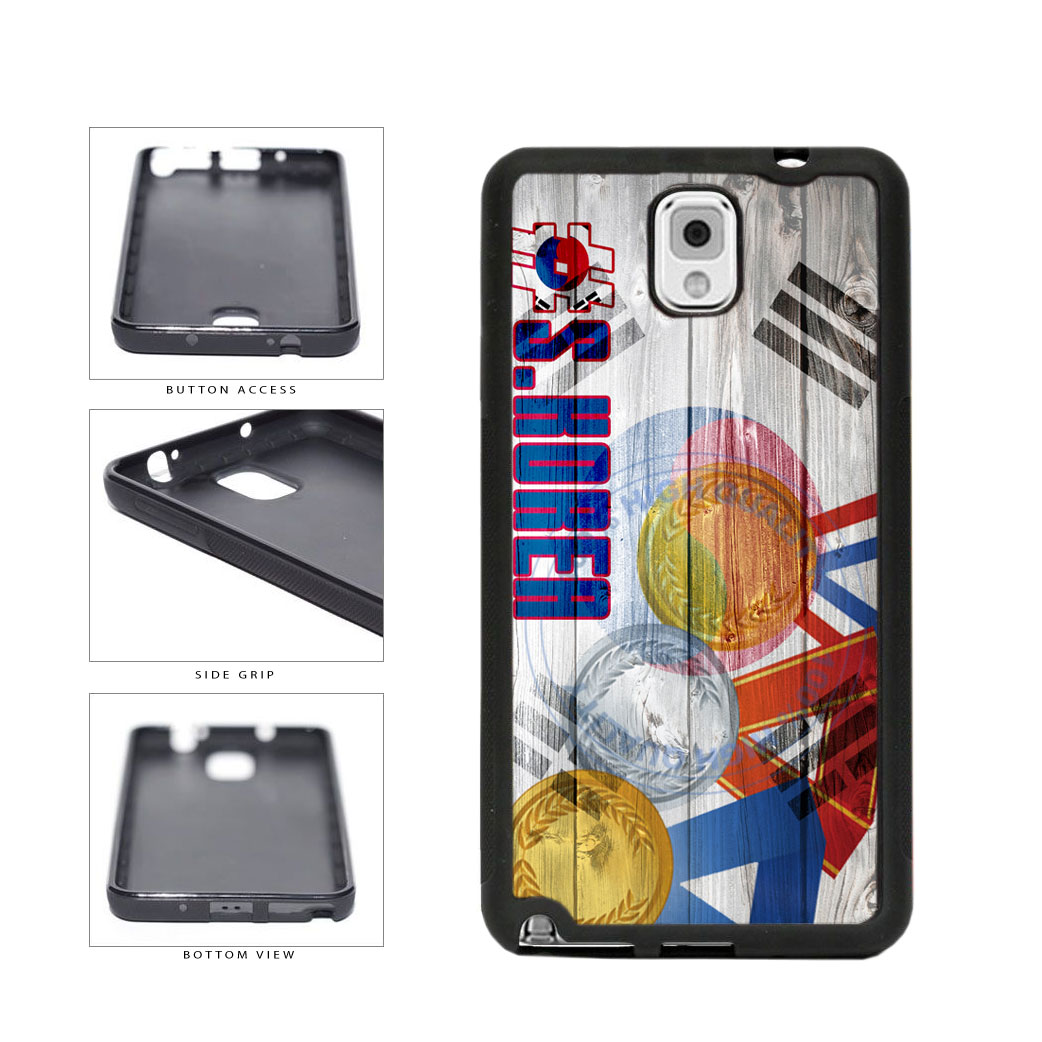 Sport Games Hashtag Team South Korea #SouthKorea TPU Rubber SILICONE Phone Case Back Cover For Samsung Galaxy Note III 3 N9002 includes BleuReign(TM) Cloth and Warranty Label