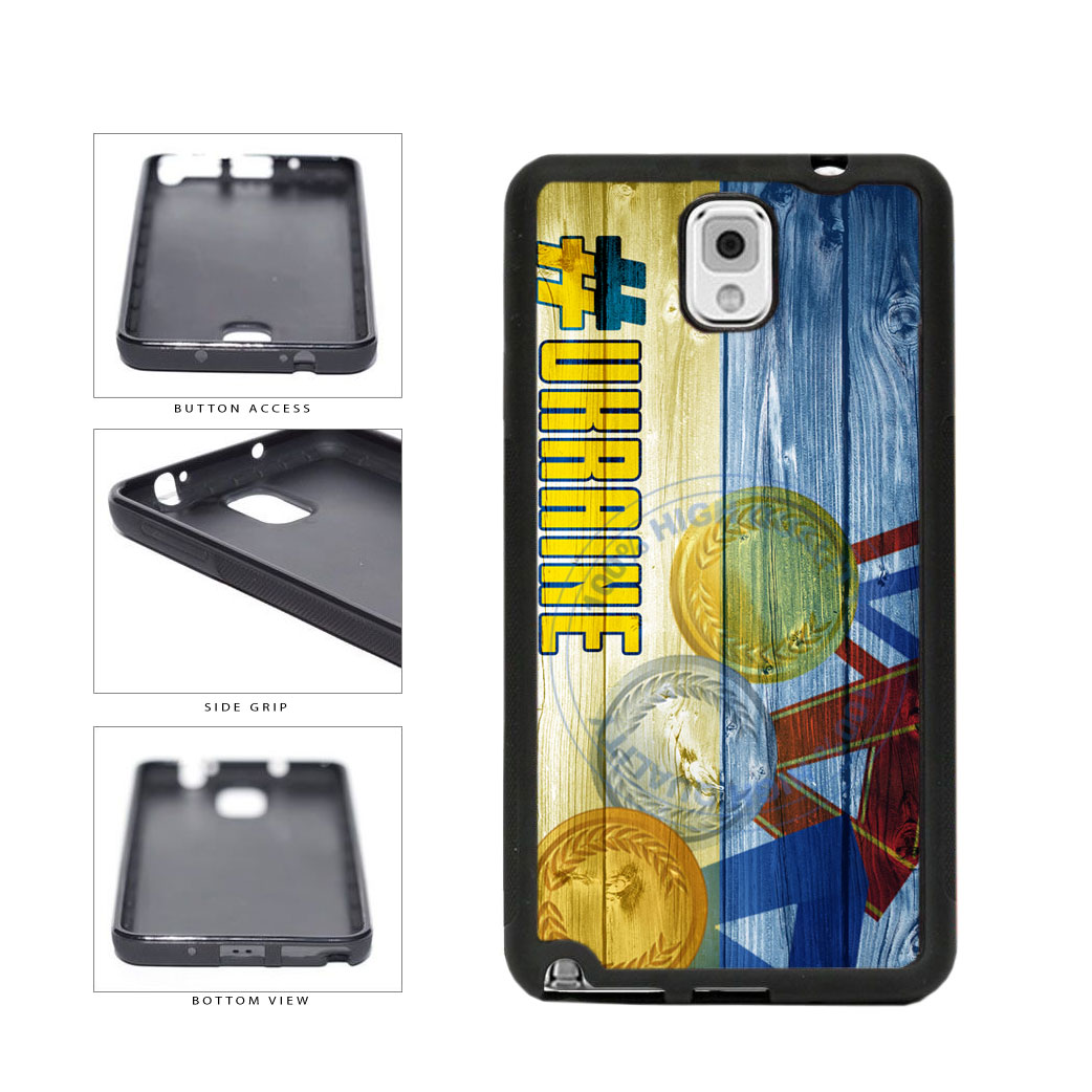 Sport Games Hashtag Team Ukraine #Ukraine TPU Rubber SILICONE Phone Case Back Cover For Samsung Galaxy Note III 3 N9002 includes BleuReign(TM) Cloth and Warranty Label
