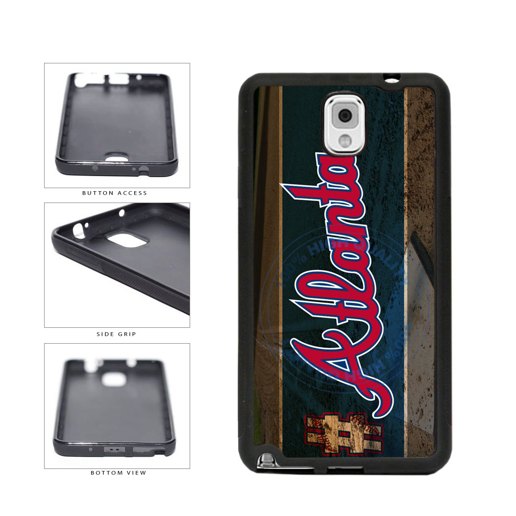 Hashtag Atlanta #Atlanta Baseball Team  TPU Rubber SILICONE Phone Case Back Cover For Samsung Galaxy Note III 3 N9002 includes BleuReign(TM) Cloth and Warranty Label