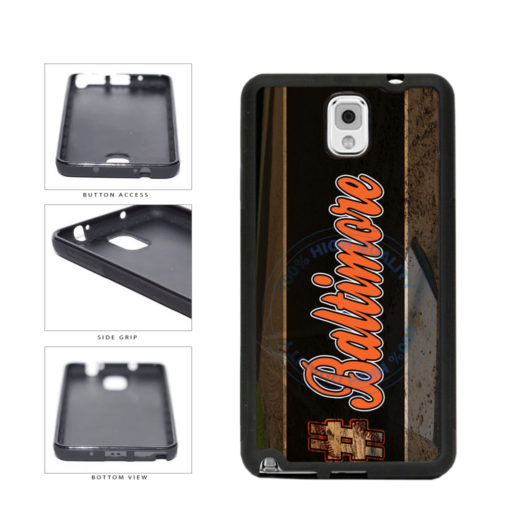 Hashtag Baltimore #Baltimore Baseball Team  TPU Rubber SILICONE Phone Case Back Cover For Samsung Galaxy Note III 3 N9002 includes BleuReign(TM) Cloth and Warranty Label