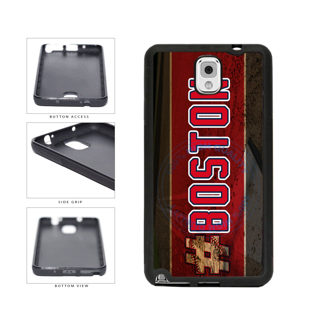 Hashtag Boston #Boston Baseball Team  TPU Rubber SILICONE Phone Case Back Cover For Samsung Galaxy Note III 3 N9002 includes BleuReign(TM) Cloth and Warranty Label