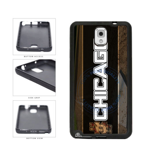 Hashtag Chicago #Chicago White Baseball Team  TPU Rubber SILICONE Phone Case Back Cover For Samsung Galaxy Note III 3 N9002 includes BleuReign(TM) Cloth and Warranty Label