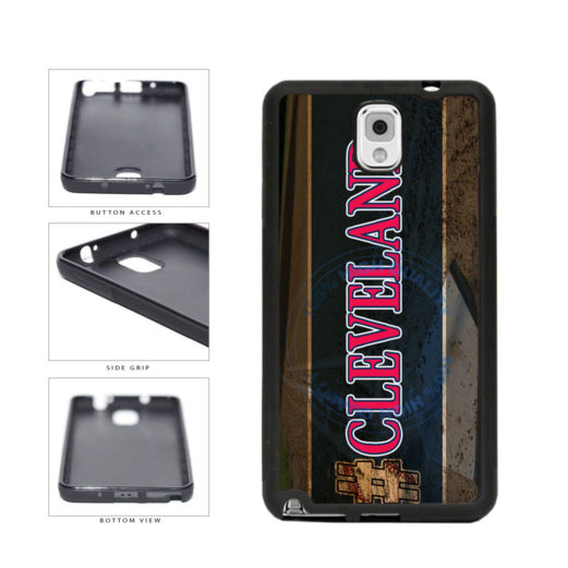 Hashtag Cleveland #Cleveland Baseball Team  TPU Rubber SILICONE Phone Case Back Cover For Samsung Galaxy Note III 3 N9002 includes BleuReign(TM) Cloth and Warranty Label