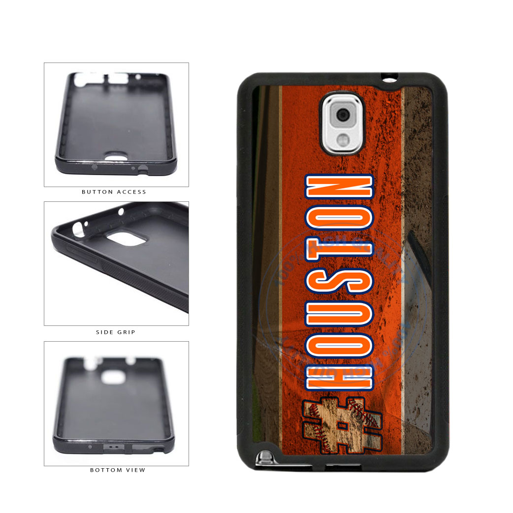 Hashtag Houston #Houston Baseball Team  TPU Rubber SILICONE Phone Case Back Cover For Samsung Galaxy Note III 3 N9002 includes BleuReign(TM) Cloth and Warranty Label