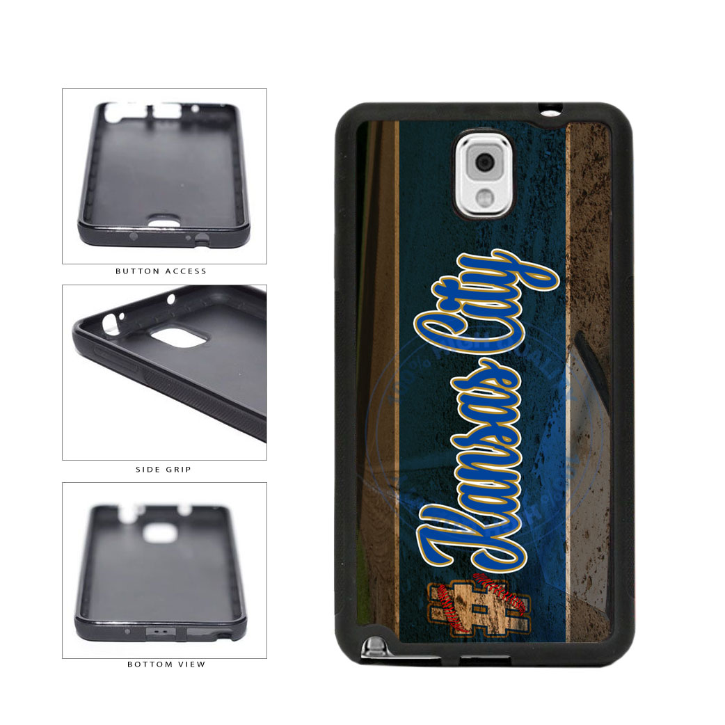 Hashtag Kansas City #KansasCity Baseball Team  TPU Rubber SILICONE Phone Case Back Cover For Samsung Galaxy Note III 3 N9002 includes BleuReign(TM) Cloth and Warranty Label