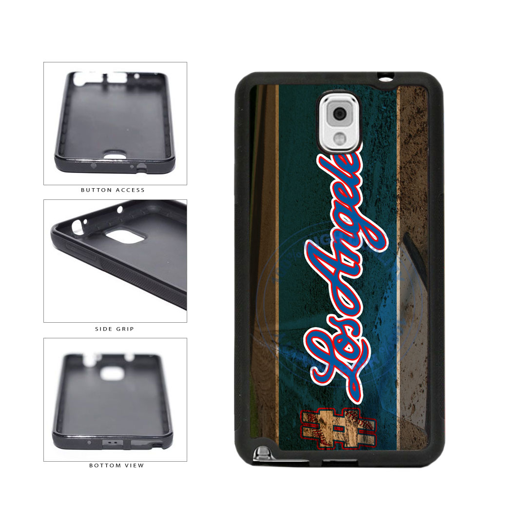Hashtag Los Angeles #LosAngeles Blue Baseball Team  TPU Rubber SILICONE Phone Case Back Cover For Samsung Galaxy Note III 3 N9002 includes BleuReign(TM) Cloth and Warranty Label