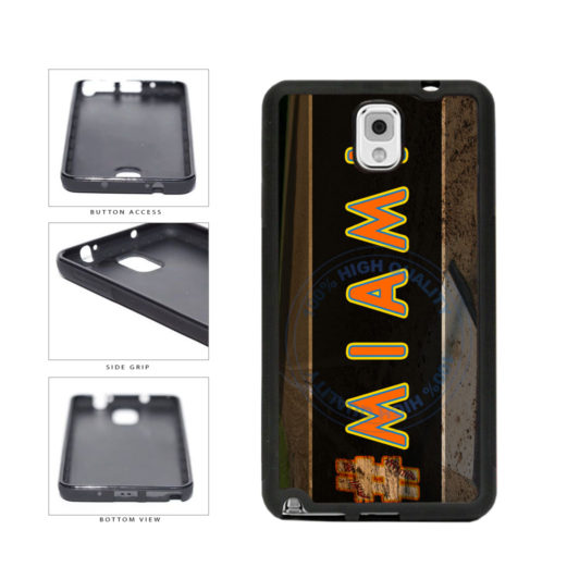 Hashtag Miami #Miami Baseball Team  TPU Rubber SILICONE Phone Case Back Cover For Samsung Galaxy Note III 3 N9002 includes BleuReign(TM) Cloth and Warranty Label