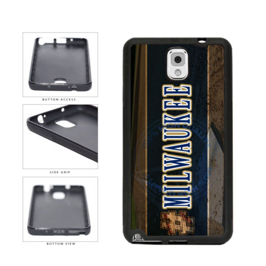 Hashtag Milwaukee #Milwaukee Baseball Team  TPU Rubber SILICONE Phone Case Back Cover For Samsung Galaxy Note III 3 N9002 includes BleuReign(TM) Cloth and Warranty Label
