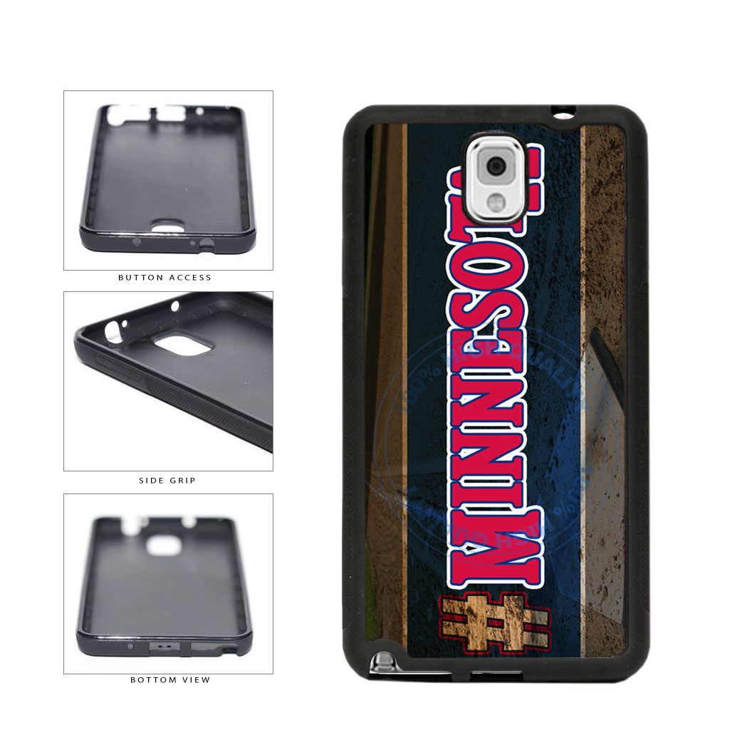 Hashtag Minnesota #Minnesota Baseball Team  TPU Rubber SILICONE Phone Case Back Cover For Samsung Galaxy Note III 3 N9002 includes BleuReign(TM) Cloth and Warranty Label