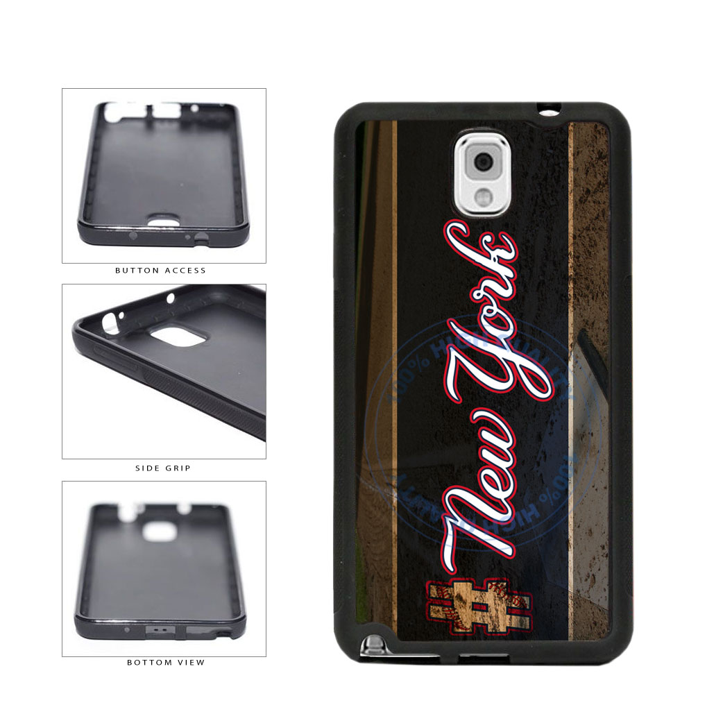 Hashtag New York #NewYork Blue Baseball Team  TPU Rubber SILICONE Phone Case Back Cover For Samsung Galaxy Note III 3 N9002 includes BleuReign(TM) Cloth and Warranty Label